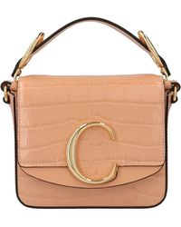 Chloé C Mini Crossbody Bag - Pink