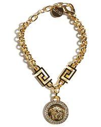 Versace Medusa Pendant Chain Bracelet - Metallic