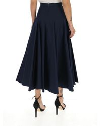 Alexander McQueen Flared Midi Skirt - Blue
