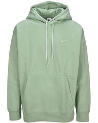 Nike Lab Logo Embroidered Hoodie - Green