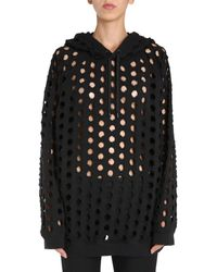 Maison Margiela Oversize Fit Sweatshirt - Black