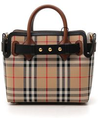 Burberry Mini Vintage Check Top Handle Bag - Multicolor