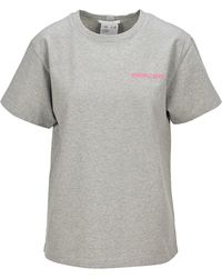 Helmut Lang Logo Embroidered T-shirt - Gray