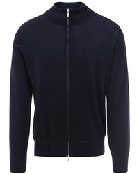 Brunello Cucinelli High-neck Zipped Jacket - Blue