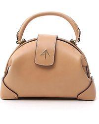 MANU Atelier Demi Bag Os Leather - Natural