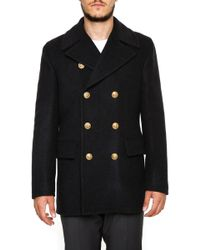 Dolce & Gabbana - Double Breasted Short Coat - Lyst