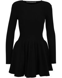 Alexander Wang Long Sleeve Flared Mini Dress - Black