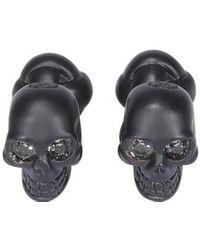 Alexander McQueen Skull Cufflinks - Black