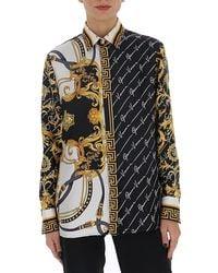 Versace Baroque Print Twill Shirt - Multicolour