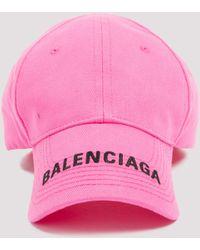 Balenciaga Logo Baseball Cap - Pink