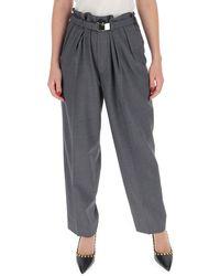 Miu Miu Belted Wide Leg Trousers - Grey