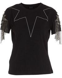 Pinko Rhinestone Embellished T-shirt - Black