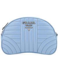 Prada Diagramme Logo Plaque Belt Bag - Blue