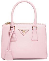 Prada Galleria Saffiano Micro Top Handle Bag - Pink