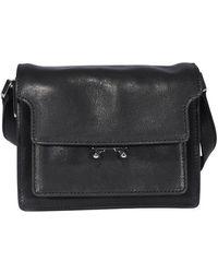 Marni Soft Trunk Mini Shoulder Bag - Black