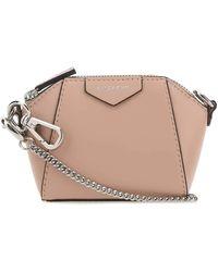 Givenchy Powder Pink Leather Baby Antigona Crossbody Bag Nd