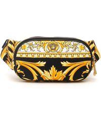 Versace Baroque Print Belt Bag - Yellow