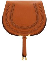 Chloé Marcie Medium Saddle Bag - Brown