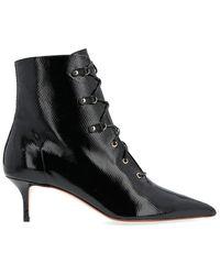 Francesco Russo Lace-up Ankle Boots - Black
