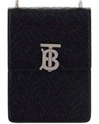 Burberry Robin Monogram Motif Crossbody Bag - Black