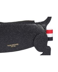 Thom Browne Hector Leather Coin Holder - Black