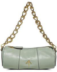 MANU Atelier Xx Mini Cylinder Chain Bag - Green