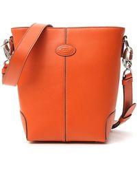 Tod's Logo Bucket Bag - Orange