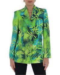 Versace Jungle Print Blazer - Green