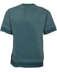 ADER error Raw-edge T-shirt - Blue
