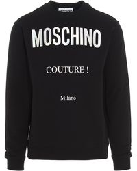 Moschino Logo Printed Sweatshirt - Black