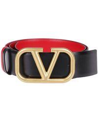 Valentino Vring Reversible Belt - Black