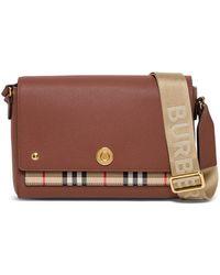 Burberry Vintage Check Flap Crossbody Bag - Brown