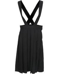 Comme des Garçons Pinafore Pleated Dress - Black