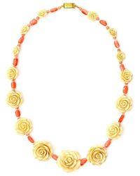 Prada Rose Necklace - Metallic