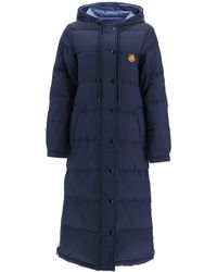 KENZO Reversible Quilted Coat - Blue