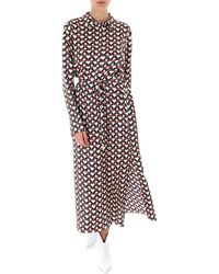 Max Mara Printed Maxi Shirt Dress - Multicolor