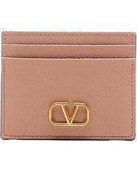 Valentino Garavani Vlogo Signature Cardholder - Pink
