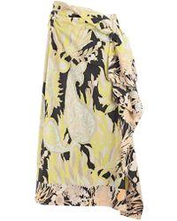 Dries Van Noten - Floral Gathered Skirt - Lyst