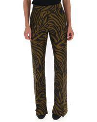 3.1 Phillip Lim Zebra Print Straight-leg Pants - Brown