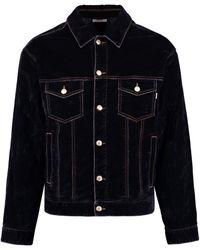 Gcds Velvet Jacket - Blue
