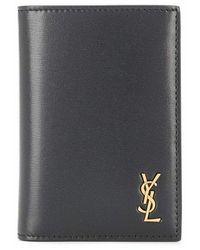 Saint Laurent Logo Plaque Bifold Wallet - Black