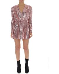 Amen Sequin Embellished Mini Dress - Pink