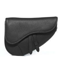Dior Mini Saddle Bag - Black