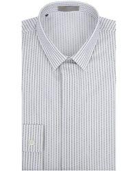 Dior Homme - Stitch Detailing Cotton Shirt - Lyst