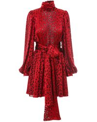 Saint Laurent Viscose Dress - Red
