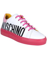 Moschino Side Logo Print Trainers - Multicolour
