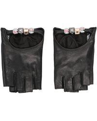 Karl Lagerfeld 215w3602999 Other Materials Gloves - Black