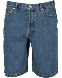 A.P.C. Teddy Denim Shorts - Blue