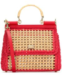 Dolce & Gabbana Dolce Gabbana Sicily Top Handle Bag - Red