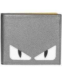 Fendi Bag Bugs Bifold Wallet - Metallic